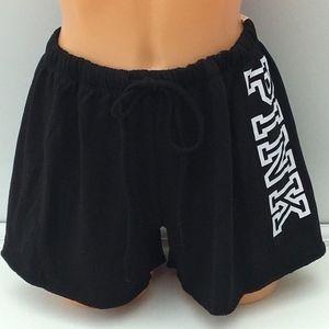 VS PINK Black Graphic Classic Shorts - M (NWT)